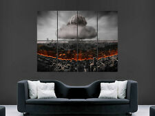 NUCLEAR MUSHROOM CLOUD CITY POSTER DISASTER ART PICTURE PRINT LARGE HUGE