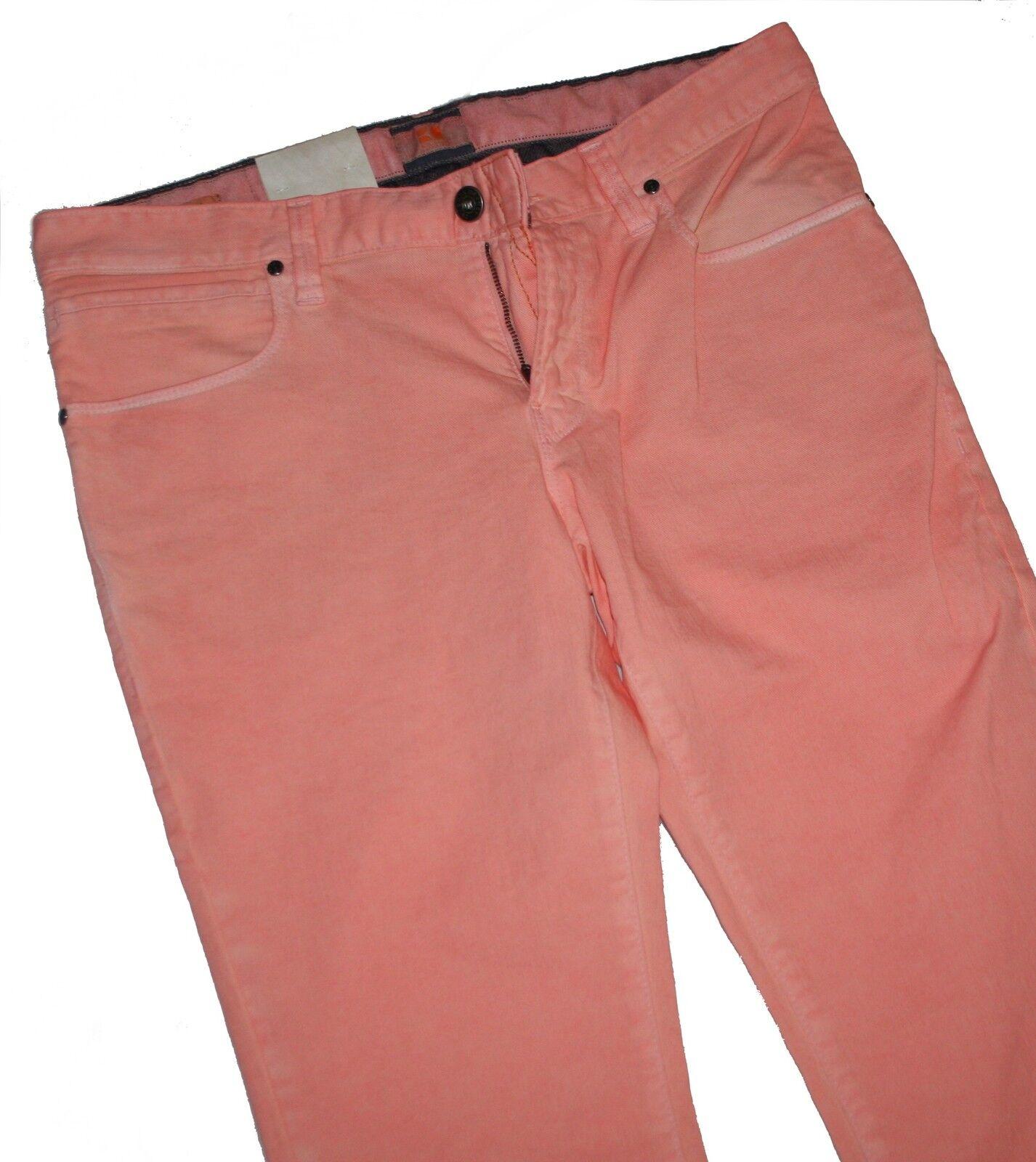 Hugo Boss 50239461 Pastel Red Stretch Denim orange 63 Coloured Slim Fit Jeans