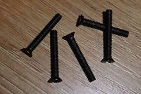 "Rogers LS3/5A Black 1"" Steel Countersunk Screws - Quantity 10 - Threaded 4BA -"