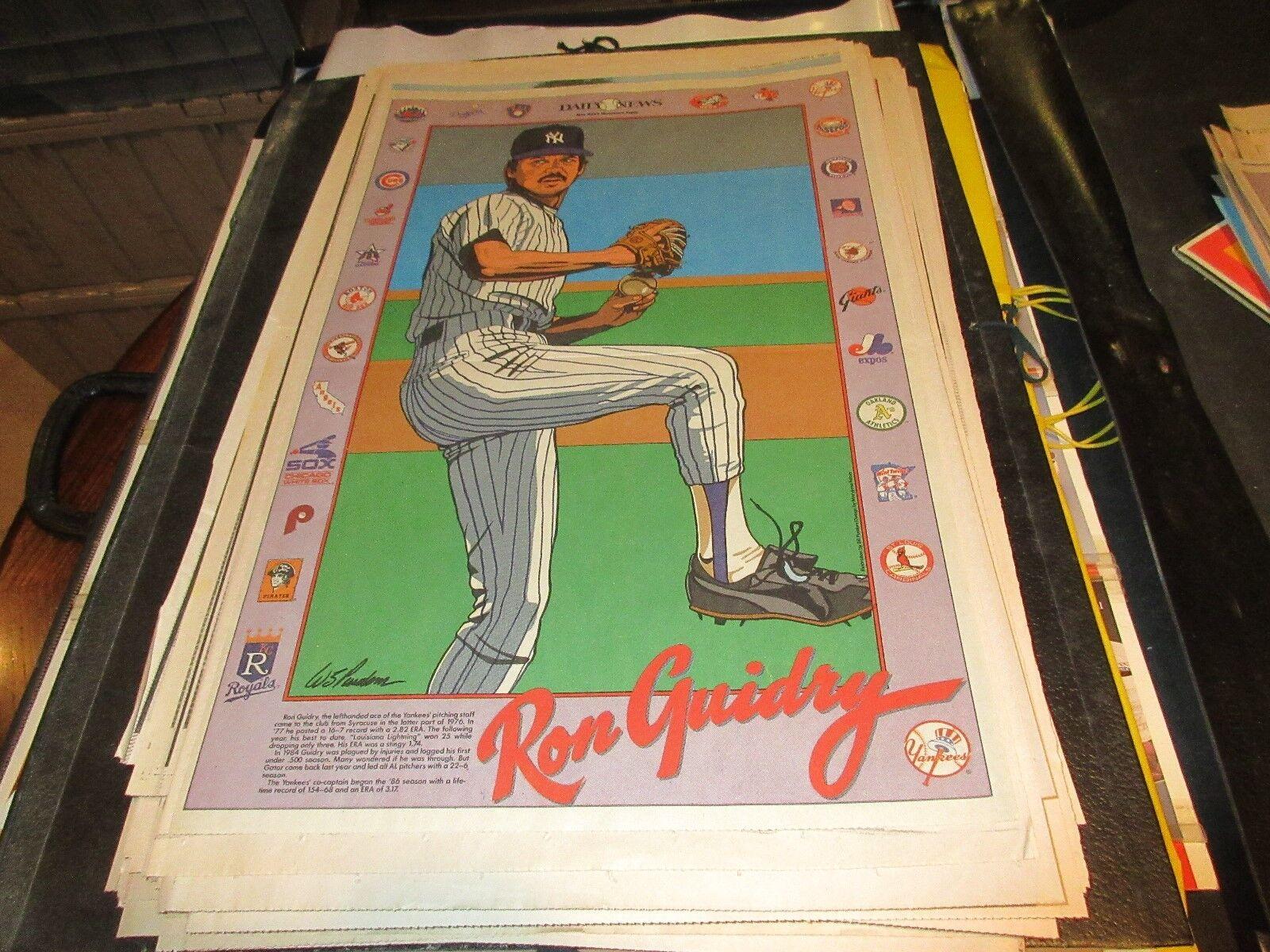 Ron Guidry , NY Yankees , NY Daily News , Newspaper Cli