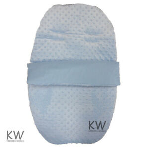 Car-Seat-Footmuff-Cosy-Toes-Dimple-Velour-Blue-Universal-Zip-Off