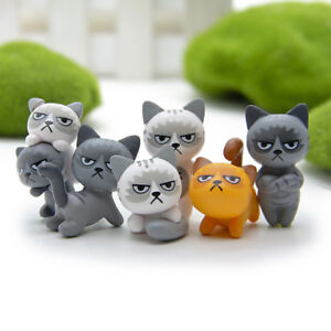 Set 6 Pcs Mini Chat Chaton Décoration Jardin Fée DIY Figurine Micro ...