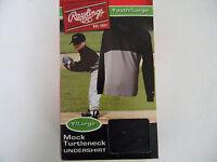 Boys Youth Rawlings Microfiber Mock Turtleneck Undershirt Baseball Sz L