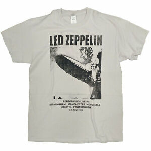Led-Zeppelin-T-Shirt-1969-Tour-100-Official-Light-Grey-Jimmy-Page-Robert-Plant