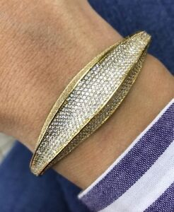 Turkish-Handmade-Jewelry-Sterling-Silver-925-Zircon-Bracelet-Bangle-Cuff