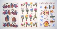 Tatouage Garden Accents 3 Sheets Dry Rub Transfer