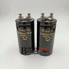 1pc Hitachi Hcg Fa 50v 47000ufmfd 50105 Bolt Electrolytic Capacitor