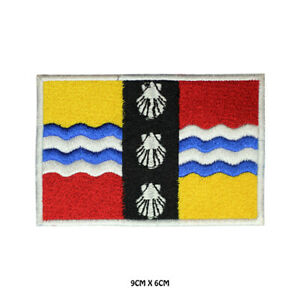 BEDFORDSHIRE County Flag Embroidered Patch Iron on Sew On Badge For Clothes Etc
