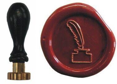 Udig Siegel Stempel Petschaft Tintenfass 24 mm Siegelstempel Faß Fass Feder