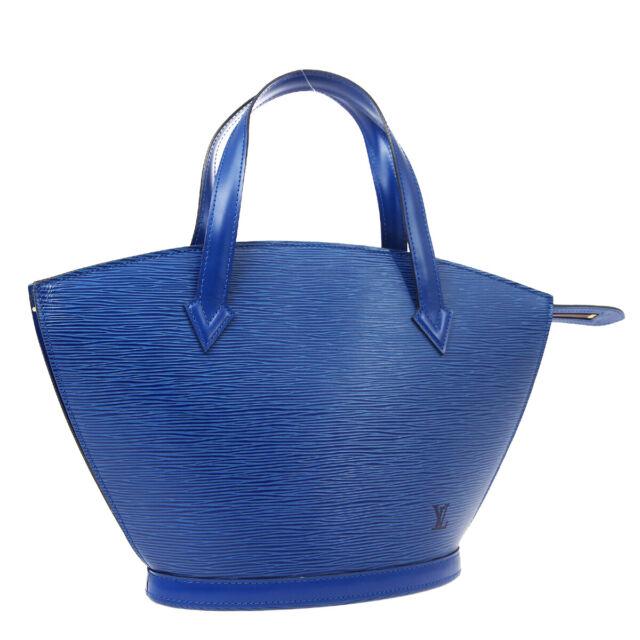 LOUIS VUITTON SAINT JACQUES HAND TOTE BAG VI0935 PURSE BLUE EPI M52275 02526