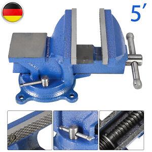 200  mm Schraubstock Amboss f Werkbank drehbar Werkbankschraubstock 360° Blau