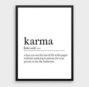 Karma-Definition-Bathroom-Toilet-Quote-Gift-Print-Picture-Sign-Card