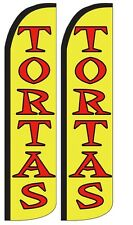 Tortas Windless Standard Size Polyester Swooper Flag Sign Pk of 2