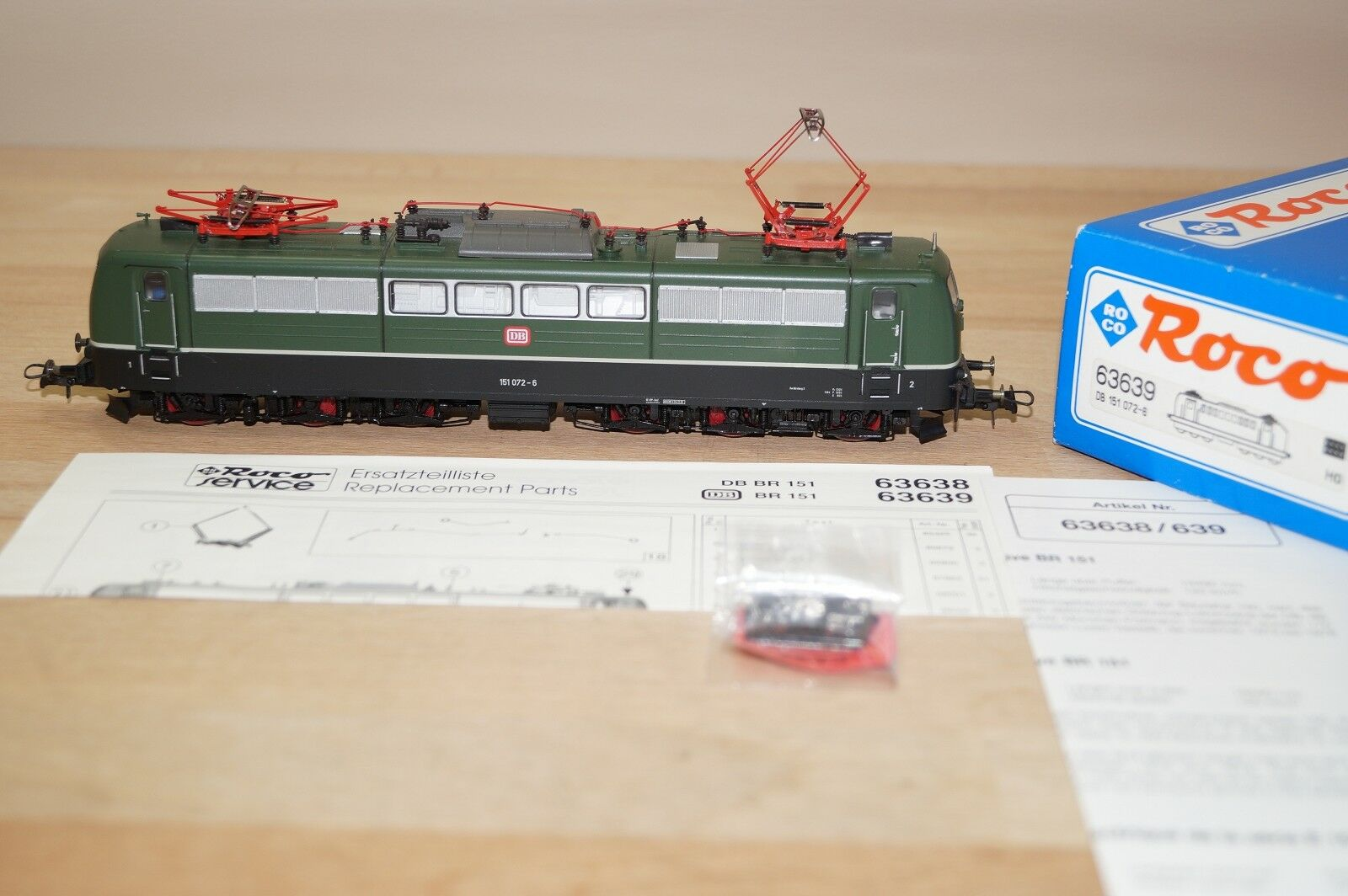 Roco 63639 DB electric locomotive BR 151 072-6 IN GREEN EMB. orig interface