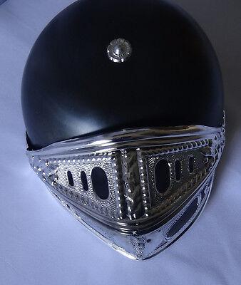 black warrior hard hat helmet costume fancy dress medieval photo prop accessory