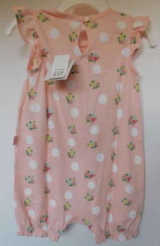 NWT Gap Baby Girl/'s 1 Piece Flutter Sleeve 0-3M 3-6M 6-12M MSRP$30 New Free Ship