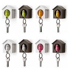 Cute Bird Nest Sparrow House Key Chain Keyring Plastic Whistle Wall Hook Holder