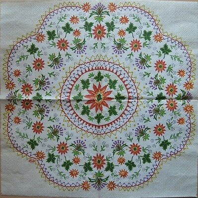 PAPER TABLE NAPKIN FOR CRAFT VINTAGE FLOWER ROSE EASTE DECOUPAGE TEA PARTIES 461