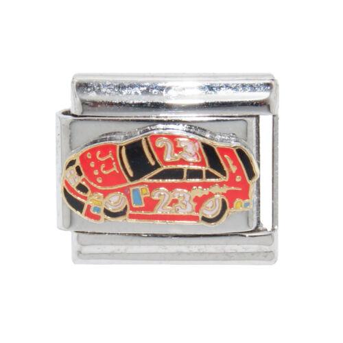 Red racing car 9mm charm fits 9mm classic Italian charm bracelets