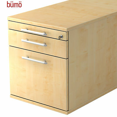 Kleinmöbel & Accessoires Rollcontainer Schreibtischcontainer Bürorollcontainer Büro Container Weiß Bümö® Büromöbel