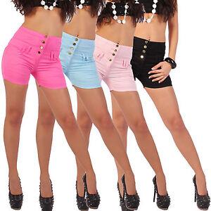 damen hot pants panty kurze hose hochschnitt high waist hotpants hoch shorts b28 ebay. Black Bedroom Furniture Sets. Home Design Ideas