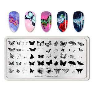 BORN-PRETTY-Nail-Stamping-Plates-Rectangle-Butterfly-Pattern-Overprint-L003