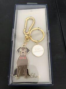 Labrador-Chocolate-Retriever-Enamel-Keychain-NEW-In-Box