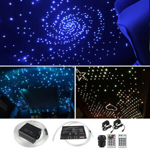 Details About 16w Rgb Remote Muticolor Led Fiber Optic Ceiling Light Shooting Car Home Roof Us