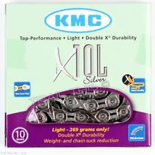 KMC X10l Silver 10-speed Road/mtb Bike Chain 116l Fits Campagnolo Shimano SRAM