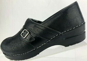 ea67574eb60 Image is loading Sanita-Danish-Clogs-Nursing-Professional-Black-Comfort-Work -