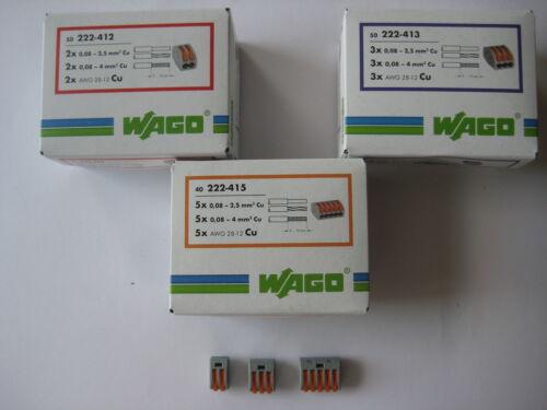 WAGO Klemmen 50x 222-412 40x 222-415 Wagoklemmen SET 50x 222-413