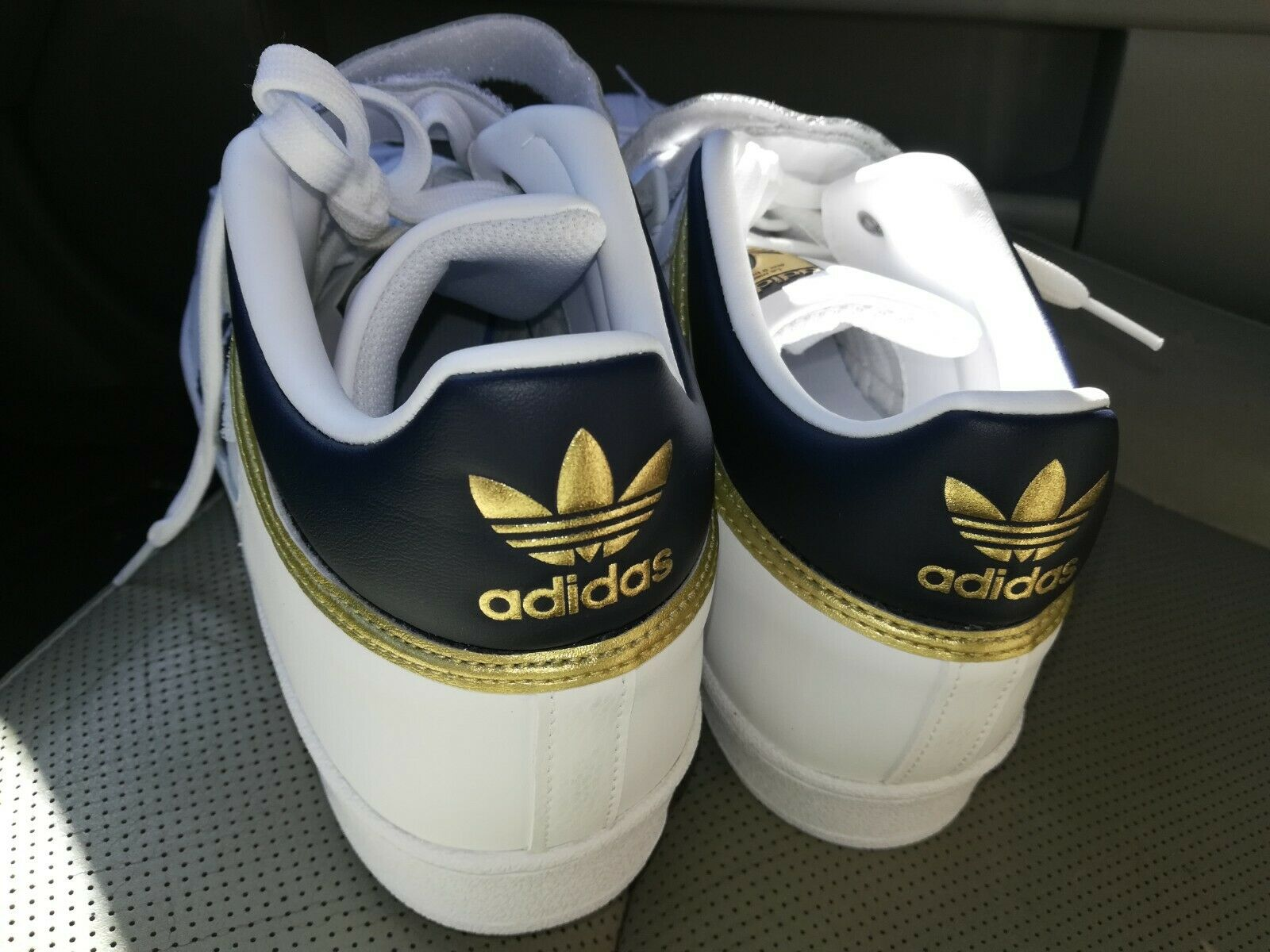 MEN'S ADIDAS ORIGINALS PRO SHELL SHOES  [BY4383]  WHITE NAVY-gold METALLIC M12