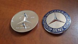 Fregio-Logo-Stemma-Cofano-Anteriore-MERCEDES-SL-W230-R129-W140-SEC-C-W203-Vito