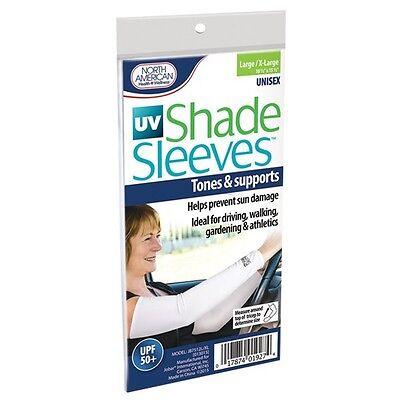 UV Shade Sleeves Sun Protection Protect Arms Burn Tan Damage Outdoors Driving