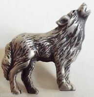 Wolf Wolves Pin Badge - Hand Made in English Pewter