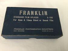 Vintage Franklin Standard Film Splicer 8mm 16mm film in box
