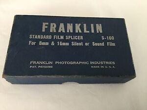 Vintage Franklin Standard Film Splicer 8mm 16mm film in box   eBay