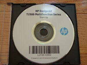 Original-Start-Up-disk-for-HP-DesignJet-T2500-Plotters-Drivers-Manuals-DVD