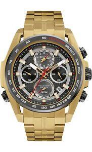 Bulova-Precisionist-Men-039-s-98B271-UHF-Quartz-Chronograph-Gold-Tone-48mm-Watch