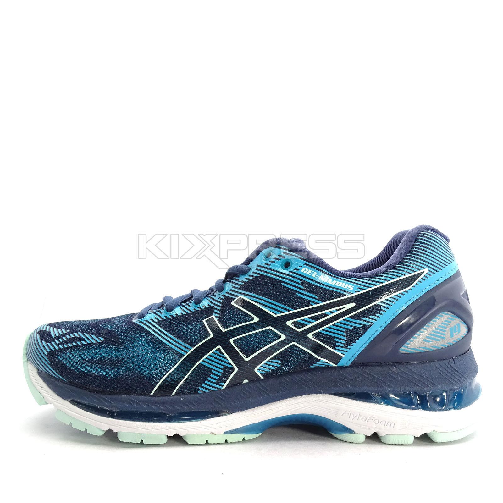 Asics GEL-Nimbus 19 [T750N-5067] Women Running Shoes Insignia Blue/Glacier Sea