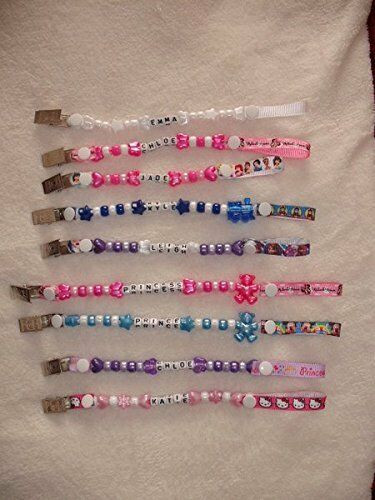 Personalised Dummy Clip Perfect Baby//Christening Gift *Buy 2 get 1 Free*