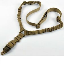 DARK EARTH SLING One Point Bungee Rifle Strap Gun Sling w QD Buckle attachment
