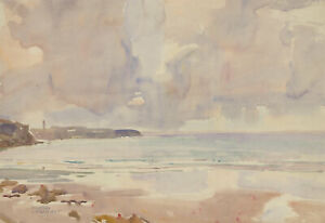 Murray-McNeel-Caird-Urquhart-RBA-1880-1972-Watercolour-Brittany-Beach
