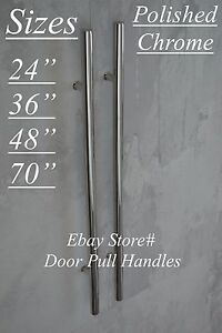 Details About Entry Front Door Long Polished Chrome Door Pull Handle  Stainless Steel Entrance
