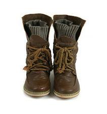 Damen Stiefeletten PU-Leder Schwarz Flach Winterstiefel Schuhe Boots Mode 35-43