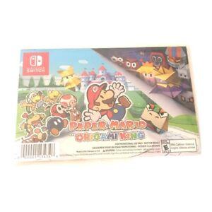 Paper Mario The Origami King 9 Postcard Set my Nintendo Rewards Exclusive NEW