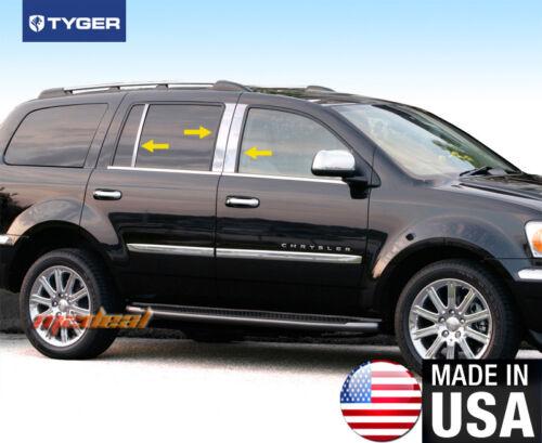 TYGER Fits 2005-2015 Chrysler Aspen 6PC Stainless Steel Chrome Pillar Post Trim