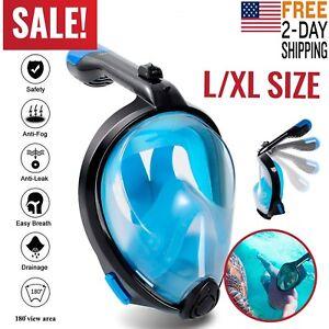 Full Face Snorkel Mask Scuba Diving Swimming Easy Breath Underwater Anti Fog 180