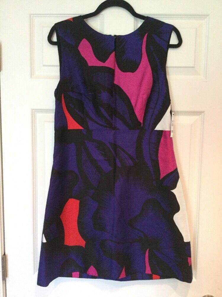 Diane Von Furstenberg  Yvette  Purple Pink Floral Shift Dress, Size 12 NWT