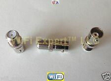 1x Nickel BNC Female Jack to F Type TV Female Jack RF adapter connector USA